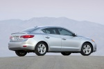 2013 Acura ILX Sedan 1.5 Hybrid in Silver Moon - Static Rear Right View