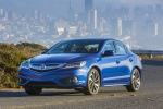 2017 Acura ILX Sedan in Catalina Blue Pearl - Driving Front Left Three-quarter View