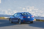 2017 Acura ILX Sedan in Catalina Blue Pearl - Driving Rear Left View