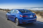 2017 Acura ILX Sedan in Catalina Blue Pearl - Driving Rear Left Three-quarter View