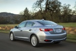 2017 Acura ILX Sedan in Slate Silver Metallic - Driving Rear Left Three-quarter View