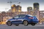 2017 Acura ILX Sedan in Catalina Blue Pearl - Static Rear Left Three-quarter View