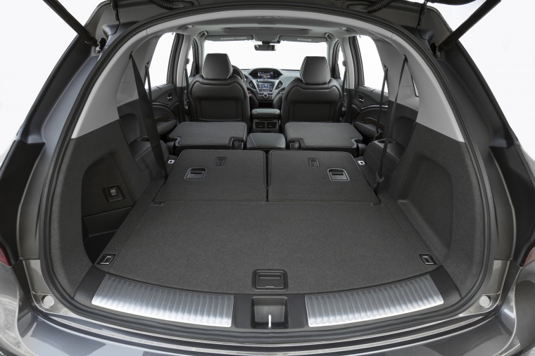 Picture of a 2019 Acura MDX Sport Hybrid's Trunk with Second Row Seats Folded