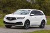 Picture of a 2019 Acura MDX A-Spec in White Diamond Pearl from a front left perspective