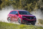 2019 Acura MDX A-Spec in Performance Red Pearl - Driving Front Right View