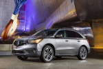 Picture of a 2019 Acura MDX Sport Hybrid in Modern Steel Metallic from a front left perspective