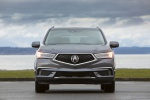Picture of a 2019 Acura MDX Sport Hybrid in Modern Steel Metallic from a frontal perspective
