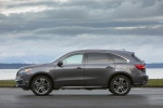 Picture of a 2019 Acura MDX Sport Hybrid in Modern Steel Metallic from a left side perspective