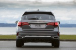 Picture of a 2019 Acura MDX Sport Hybrid in Modern Steel Metallic from a rear perspective