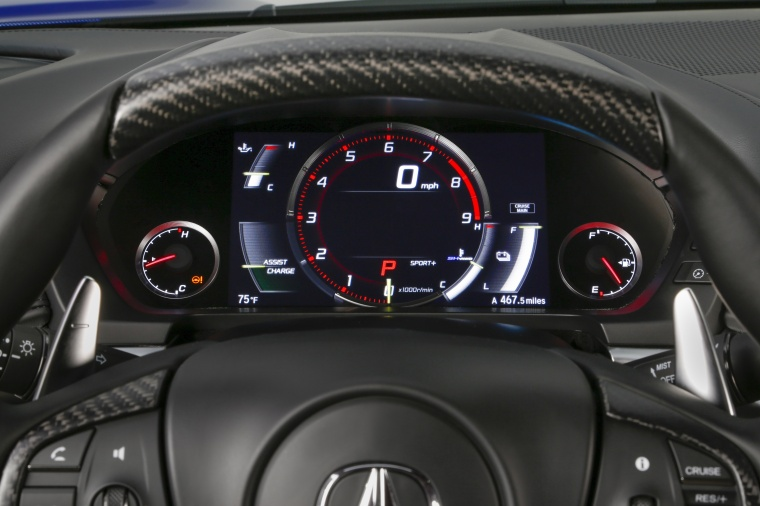 2017 Acura NSX Sport Hybrid SH-AWD Gauges Picture