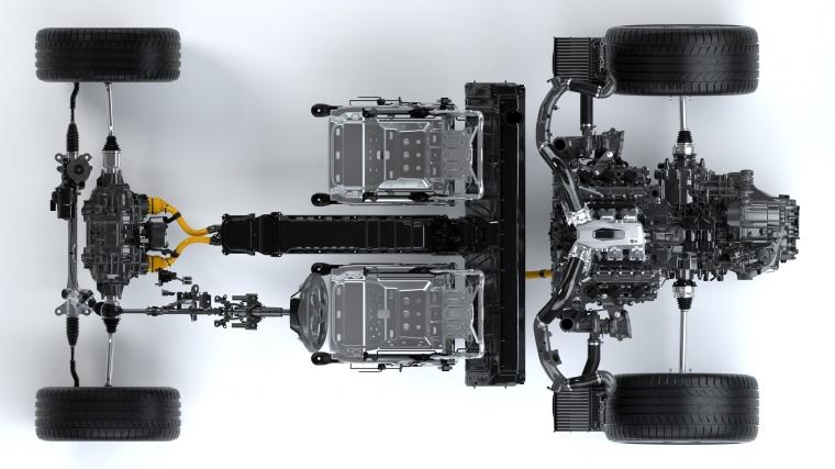 2018 Acura NSX Sport Hybrid SH-AWD Drivetrain Picture