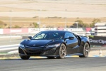2018 Acura NSX Sport Hybrid SH-AWD in Berlina Black - Driving Front Left Three-quarter View