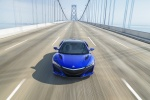 2018 Acura NSX Sport Hybrid SH-AWD in Nouvelle Blue Pearl - Driving Frontal View
