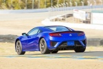 2018 Acura NSX Sport Hybrid SH-AWD in Nouvelle Blue Pearl - Driving Rear Left Three-quarter View