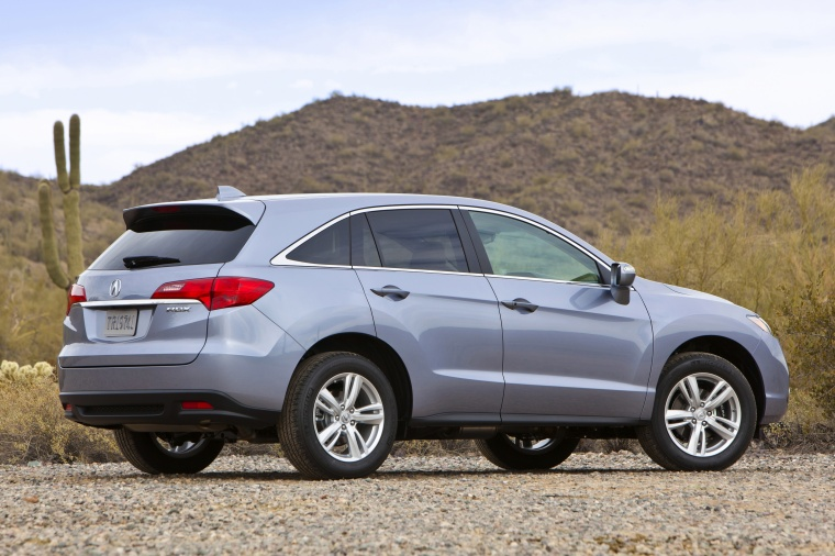 2013 Acura RDX in Forged Silver Metallic Color - Static - Rear Right ...