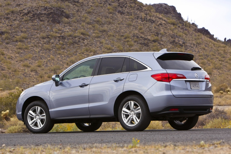 2013 Acura RDX in Forged Silver Metallic Color - Static - Rear Left View Picture | Image