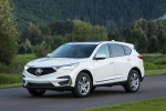 Picture of a 2020 Acura RDX SH-AWD in Platinum White Pearl from a front left three-quarter perspective