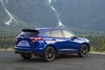 Picture of a 2020 Acura RDX A-Spec Package SH-AWD in Apex Blue Pearl from a rear right three-quarter perspective