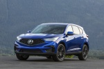 Picture of a 2020 Acura RDX A-Spec Package SH-AWD in Apex Blue Pearl from a front left perspective