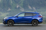 Picture of a 2020 Acura RDX A-Spec Package SH-AWD in Apex Blue Pearl from a left side perspective