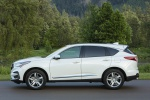 Picture of a 2020 Acura RDX SH-AWD in Platinum White Pearl from a left side perspective