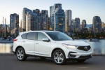 Picture of a 2020 Acura RDX SH-AWD in Platinum White Pearl from a front right three-quarter perspective