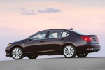 2016 Acura RLX Sport Hybrid in Pomegranate Pearl - Static Rear Left Three-quarter View