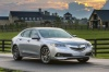 2016 Acura TLX V6 SH-AWD in Slate Silver Metallic from a front right view