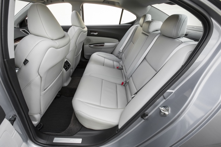 2017 Acura TLX V6 SH-AWD Rear Seats Picture