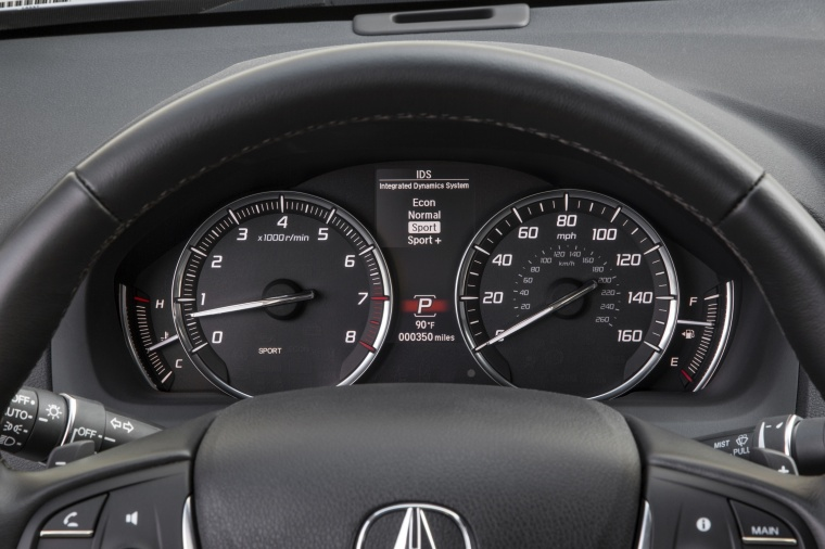 2017 Acura TLX V6 SH-AWD Gauges Picture