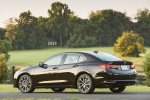 2017 Acura TLX in Black Copper Pearl - Static Rear Left Three-quarter View