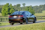 2017 Acura TLX in Black Copper Pearl - Driving Rear Right View