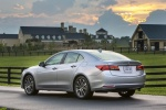 2017 Acura TLX V6 SH-AWD in Lunar Silver Metallic - Static Rear Left View