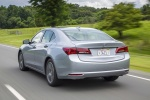 2017 Acura TLX V6 SH-AWD in Lunar Silver Metallic - Driving Rear Left View