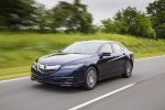 2017 Acura TLX in Fathom Blue Pearl - Driving Front Left Three-quarter View