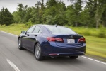 2017 Acura TLX in Fathom Blue Pearl - Driving Rear Left Three-quarter View