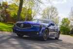 2018 Acura TLX A-Spec Sedan in Still Night Pearl - Driving Front Left Three-quarter View