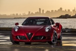 2015 Alfa Romeo 4C Coupe in Rosso Alfa - Static Front Left View