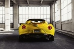 2015 Alfa Romeo 4C Spider in Giallo Prototipo - Static Rear View