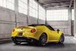 2015 Alfa Romeo 4C Spider in Giallo Prototipo - Static Rear Right Three-quarter View