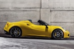 2015 Alfa Romeo 4C Spider in Giallo Prototipo - Static Side View