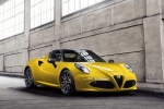 2015 Alfa Romeo 4C Spider in Giallo Prototipo - Static Front Right Three-quarter View