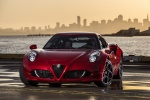 2016 Alfa Romeo 4C Coupe in Rosso Alfa - Static Front Left View