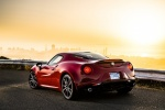 2017 Alfa Romeo 4C Coupe in Rosso Alfa - Static Rear Left Three-quarter View