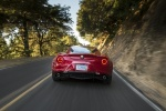 2017 Alfa Romeo 4C Coupe in Rosso Alfa - Driving Rear View