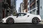 2017 Alfa Romeo 4C Coupe in White - Static Side View