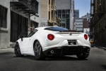 2017 Alfa Romeo 4C Coupe in White - Static Rear Left View