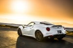 2017 Alfa Romeo 4C Coupe in White - Driving Rear Left Three-quarter View