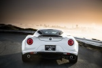 2017 Alfa Romeo 4C Coupe in White - Driving Rear View