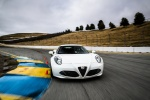 2017 Alfa Romeo 4C Coupe in White - Driving Frontal View